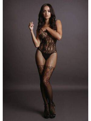 Bodystocking With Lace Pattern Le Désir by Shots