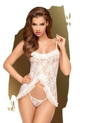Babydoll Penthouse Flawless Love Branco