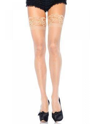 Meias Nude Stay Up Plus Size - Leg Avenue