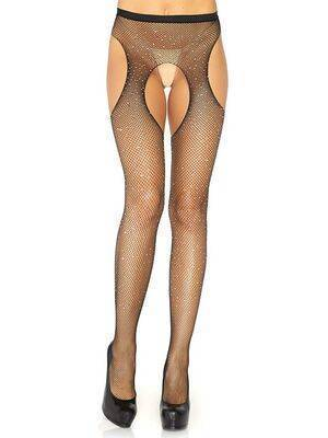 Crystalized garter stockings - Leg Avenue